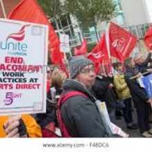 Unite secures minimum wage victory for Sports Direct workers